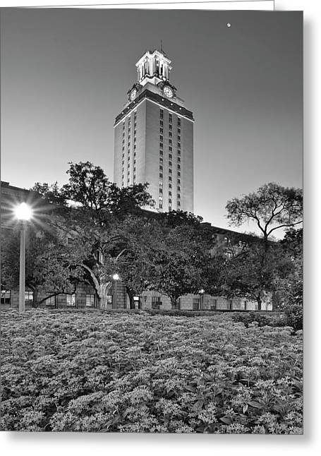 The Texas Tower By Moonlight Greeting Card by Rob Greebon