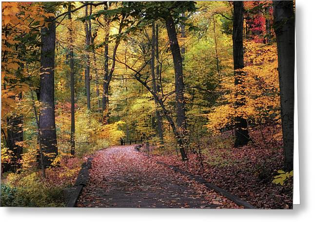 The Thain Forest Greeting Card by Jessica Jenney