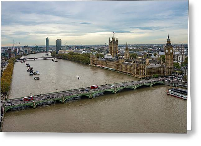 The Thames At Sunset Greeting Card