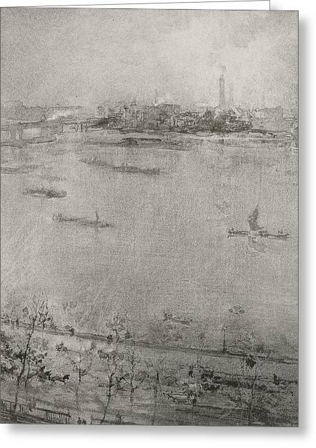 The Thames Greeting Card by James Abbott McNeill Whistler
