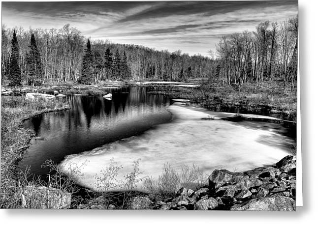 The Thawing Of Minnehaha Creek Greeting Card by David Patterson