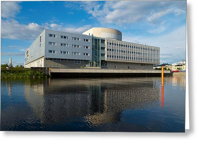 The Theatre Of Oulu 2 Greeting Card by Jouko Lehto