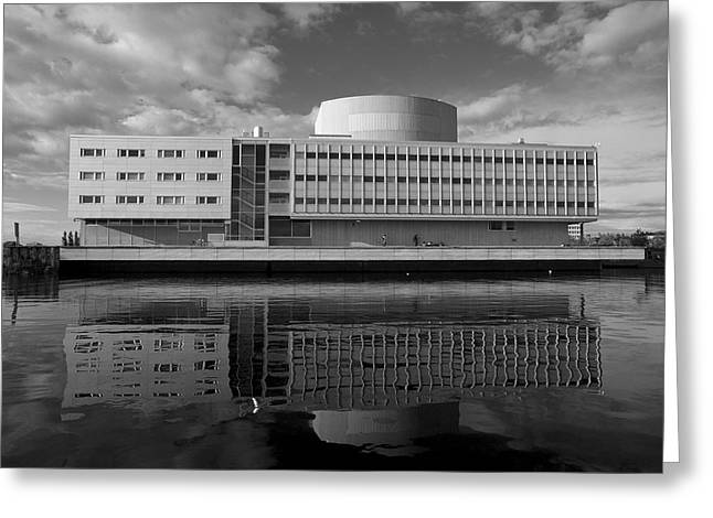 The Theatre Of Oulu  3 Greeting Card by Jouko Lehto