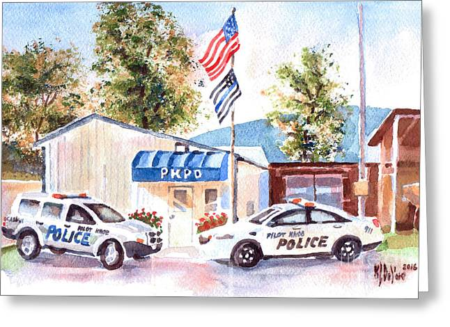 The Thin Blue Line Greeting Card