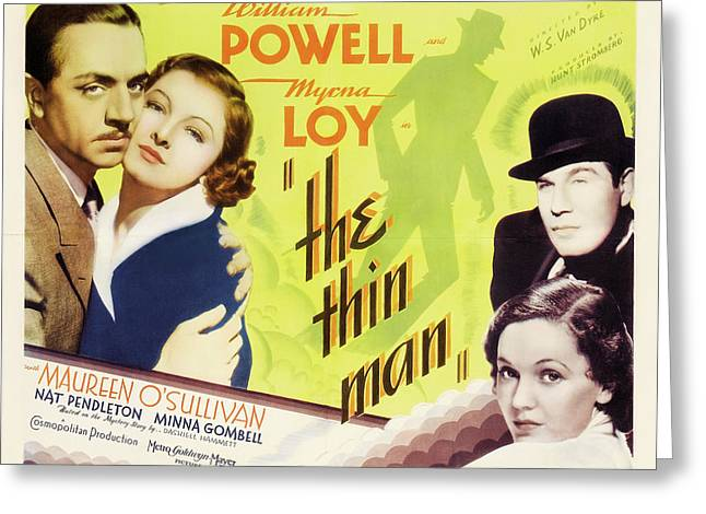 The Thin Man 1934 Greeting Card by M G M
