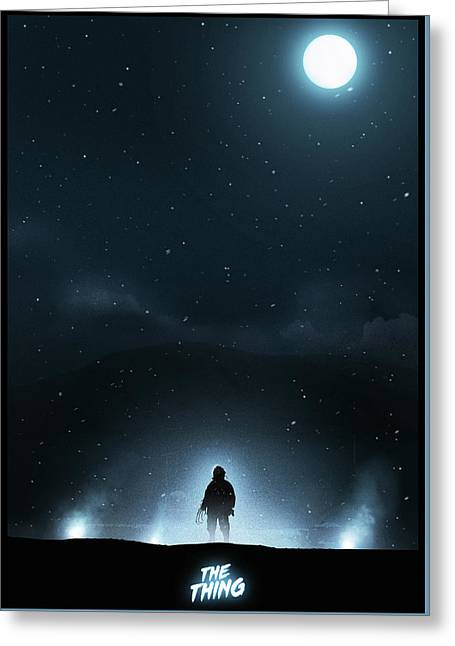The Thing Greeting Card by Colin Morella