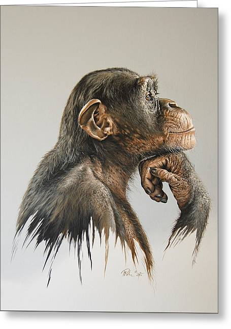 The Thinker Greeting Card by Mario Pichler