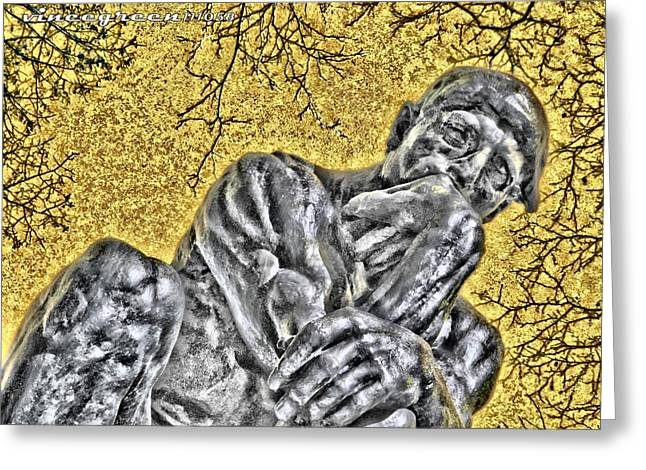 The Thinker - Study #1 Greeting Card
