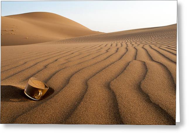 The Thirsty Desert. Greeting Card by Soheil Soheily