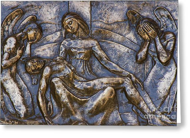 The Thirteenth Station Of The Cross Greeting Card by Al Bourassa