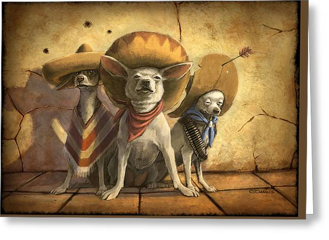 The Three Banditos Greeting Card