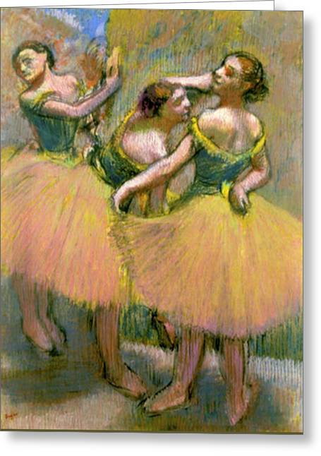 The Three Dancers Greeting Card by Edgar Degas