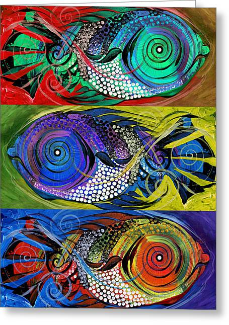 The Three Fishes Greeting Card