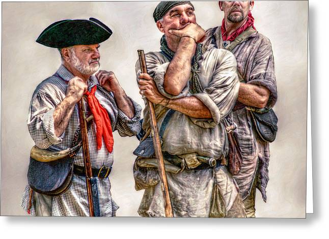 The Three Frontiersmen  Greeting Card