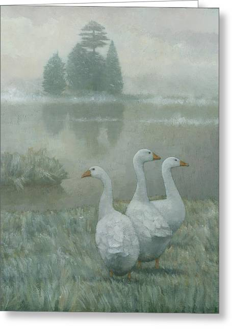 The Three Geese Greeting Card
