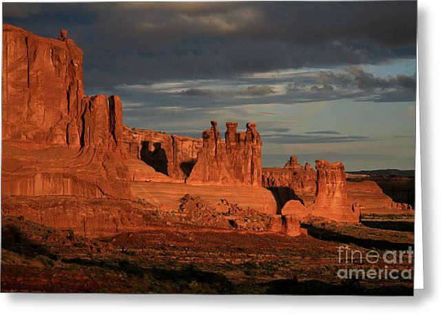 The Three Gossips And Sheeprock Greeting Card