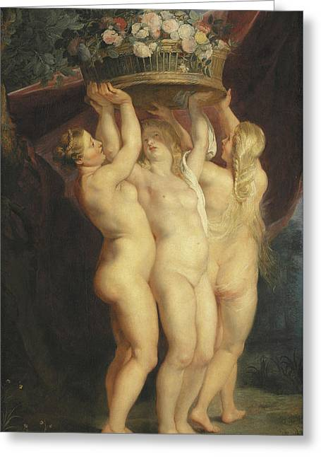 The Three Graces Greeting Card by Rubens