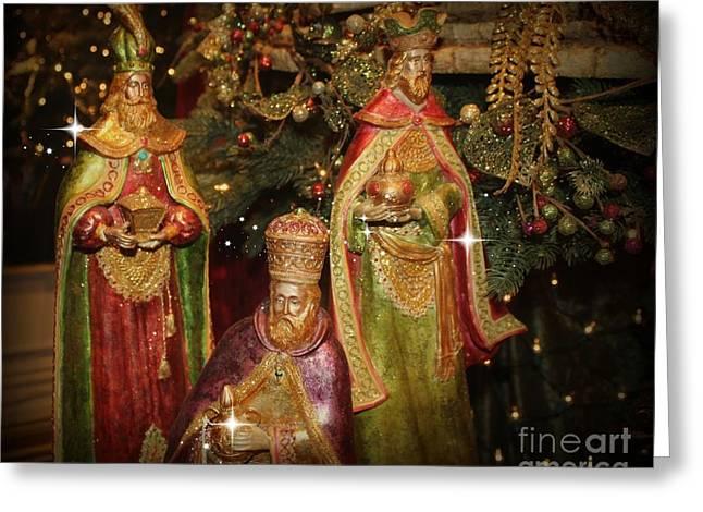 The Three Kings Greeting Card by Jenny Revitz Soper