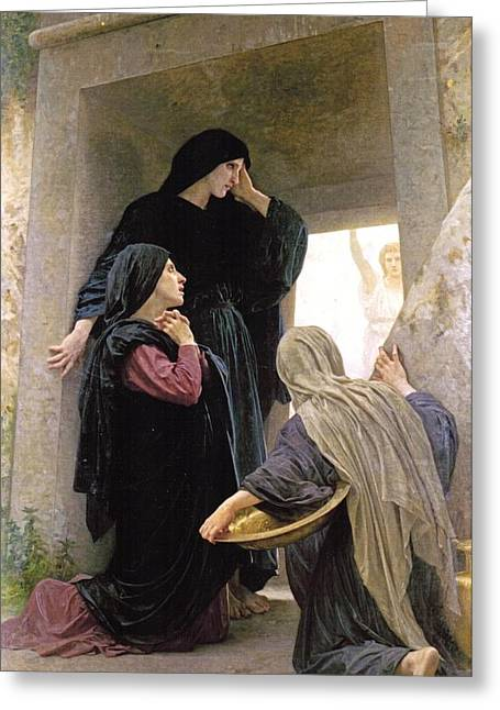 The Three Marys At The Tomb Greeting Card by William Bouguereau