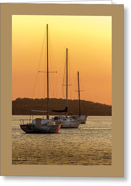 The Three Mast Greeting Card