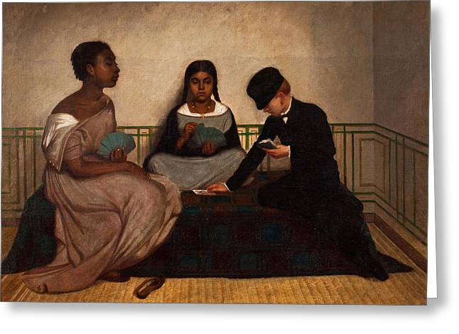 The Three Races Or Equality Before The Law Greeting Card by Francisco Laso