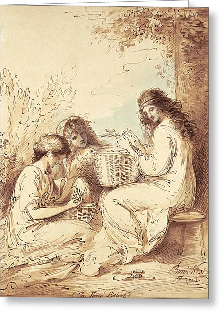 The Three Sisters  Greeting Card by Benjamin West