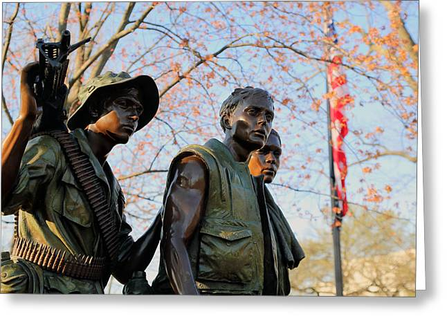 The Three Soldiers Greeting Card by Mitch Cat