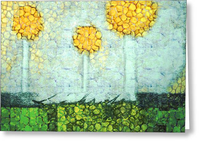 The Three Trees - Y2901b Greeting Card by Variance Collections
