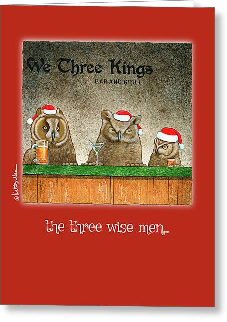 Greeting Card featuring the painting The Three Wise Men... by Will Bullas