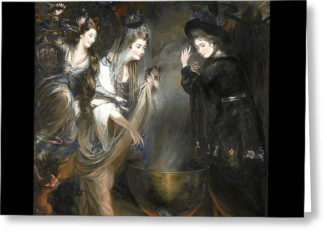 The Three Witches From Macbeth Greeting Card by Daniel Gardner
