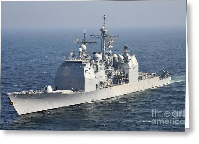 The Ticonderoga-class Guided-missile Greeting Card by Stocktrek Images
