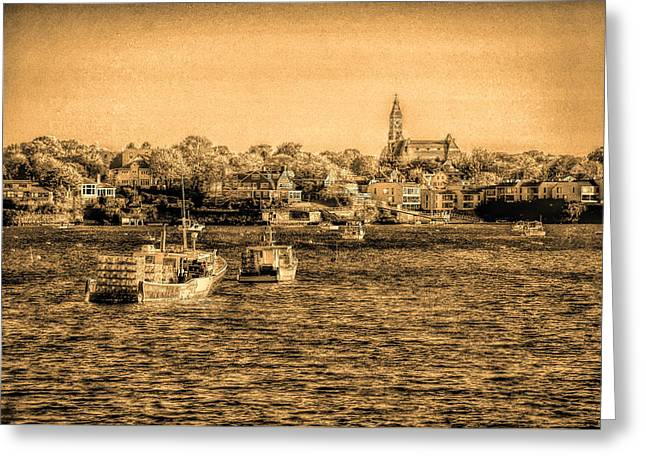 The Tide Flows Into The Harbor Greeting Card by Jeff Folger