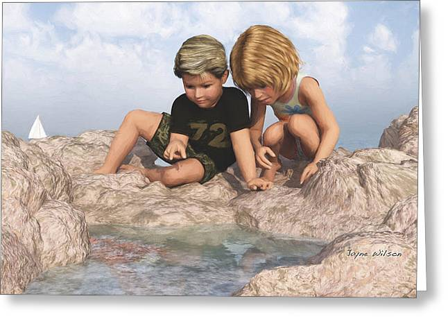 The Tide Pool Greeting Card by Jayne Wilson