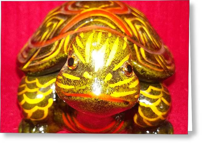The Tiger Turtle Greeting Card by Mike Russell