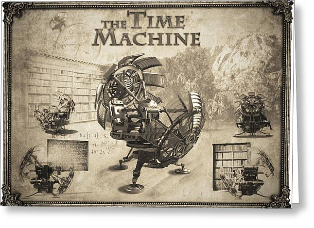 The Time Machine Greeting Card by Robert Slack