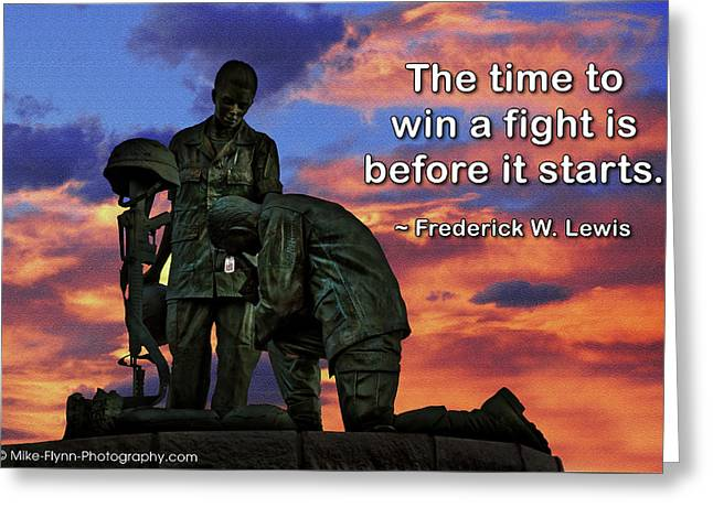 The Time To Win A Fight Greeting Card