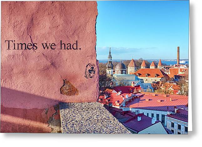 Greeting Card featuring the photograph The Times We Had by Fabrizio Troiani
