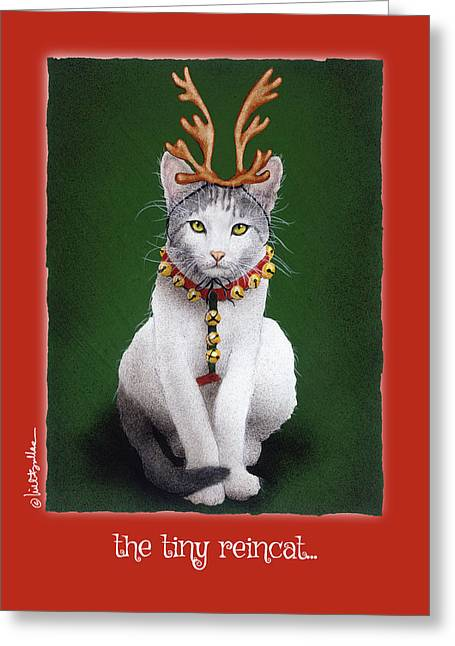Greeting Card featuring the painting The Tiny Reincat... by Will Bullas