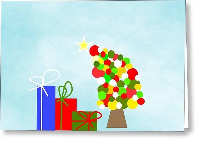 The Tipsy Tree Greeting Card by Kathleen Sartoris