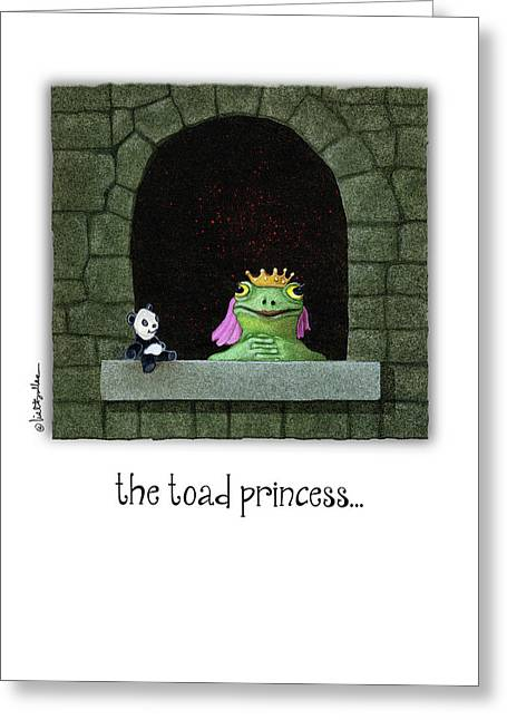 Greeting Card featuring the painting The Toad Princess... by Will Bullas