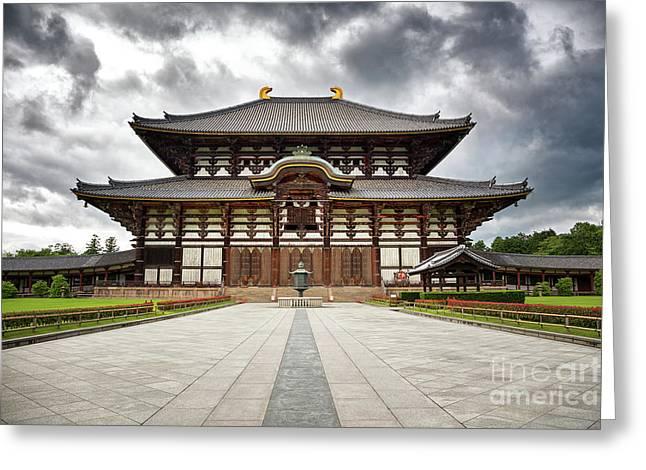 The Todai-ji Temple Of Nara Greeting Card