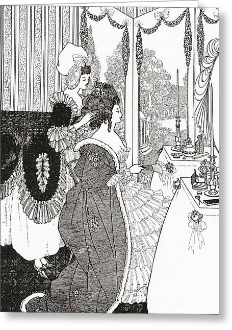 The Toilet After Aubrey Beardsley. From Greeting Card by Vintage Design Pics