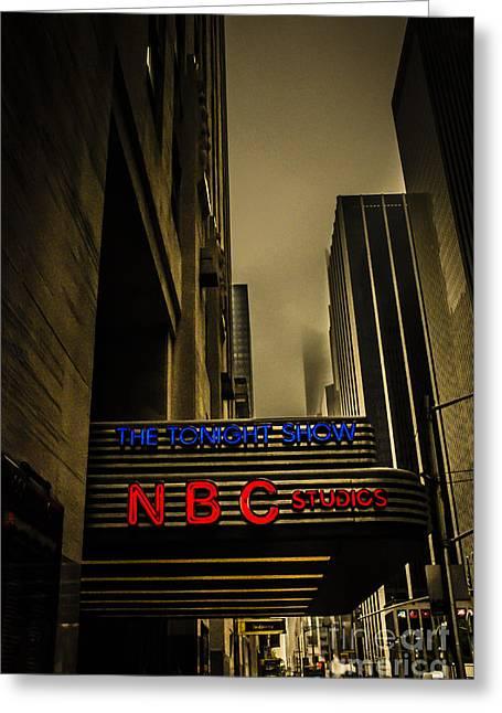 The Tonight Show Nbc Studios Rockefeller Center Greeting Card by Edward Fielding