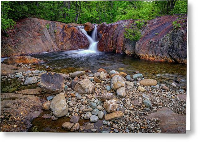 The Top Of Smalls Falls Greeting Card