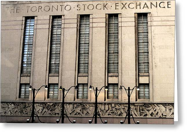The Toronto Stock Exchange Greeting Card