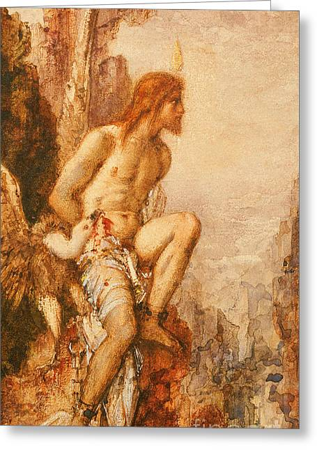 The Torture Of Prometheus Greeting Card by Gustave Moreau