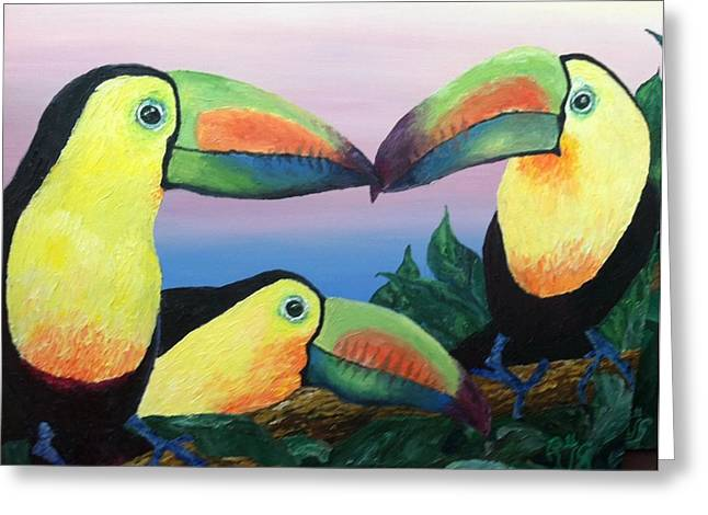 The Toucans Greeting Card by Robert Schmidt