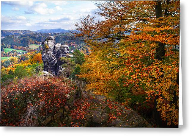 The Touch Of Gold. Saxon Switzerland Greeting Card