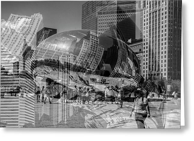 The Tourists - Chicago Greeting Card