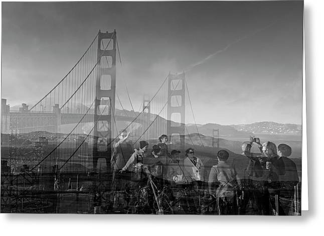 The Tourists - Golden Gate Greeting Card